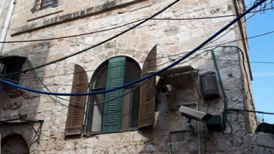 House in eastern Jerusalem that was owned by an Arab and sold to a Jew. Source: Facebook (MEMRI).