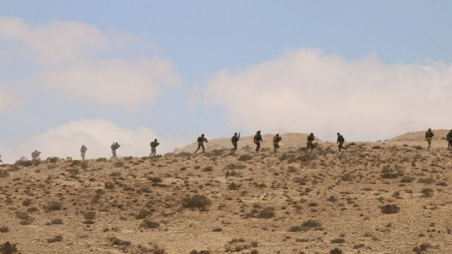 Soldiers with the Israel Defense Forces's 906th Battalion on a training exercise in the Negev Desert. Credit: IDF Spokesperson Unit.