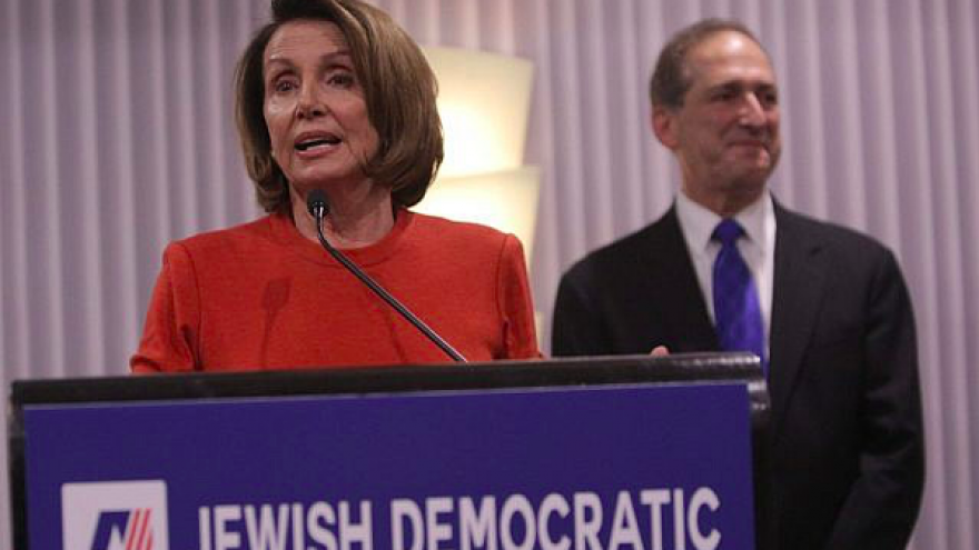 California Rep. Nancy Pelosi speaks at the Jewish Democratic Council of America's launch reception in Washington, D.C., on Nov. 8, 2017. Credit: Screenshot.