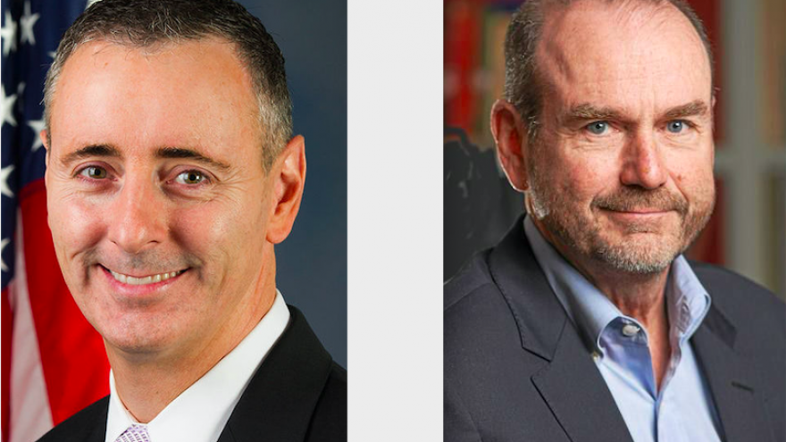 Rep. Ryan Fitzpatrick (R-Pa.) and Democratic congressional nominee Scott Wallace. Credit: Screenshot.