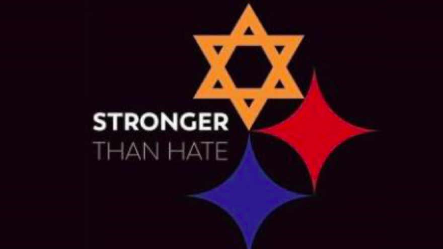 Viral logo created by Tim Hindes in the aftermath of the shooting at the Tree of Life*Or L'Simcha Synagogue on Oct. 27, 2018. Credit: Screenshot.