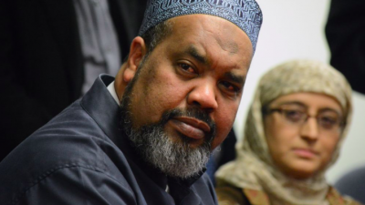 Mohamed Magid, iman of All Dulles Area Muslim Society Center in Sterling, Va., spoke at an evening vigil on Oct. 29, 2018 at Adas Israel Congregation in Washington, D.C., in the wake of the Oct. 27 shooting at the Tree of Life*Or L'Simcha Synagogue in Pittsburgh, Pa. Credit: Screenshot.