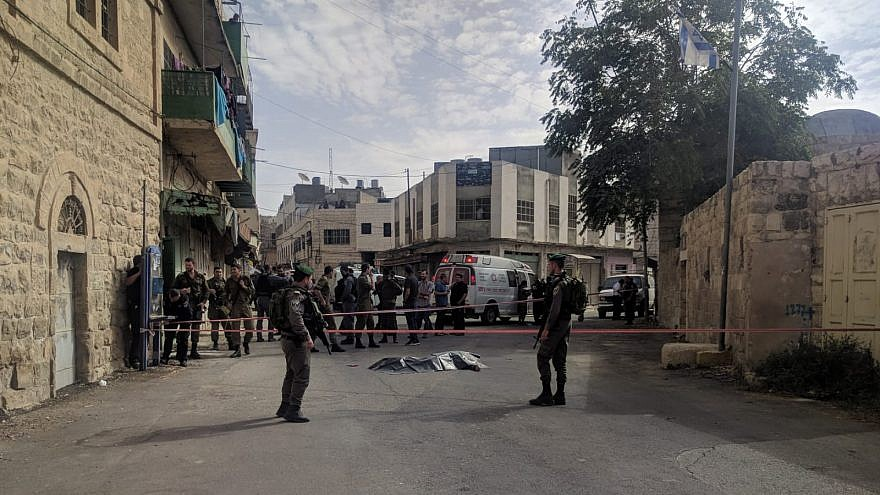 A terrorist was neutralized after attacking an Israeli soldier in Hebron on Oct. 22, 2018. Source: Yishai Fleisher, International Spokesman for the Jewish Community of Hebron.