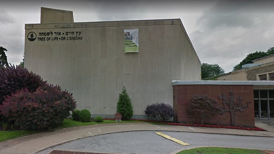 The Tree of Life*Or L'Simcha Synagogue in Pittsburgh, where a mass shooting took place during Shabbat services on Oct. 27. Credit: Google Maps screenshot.