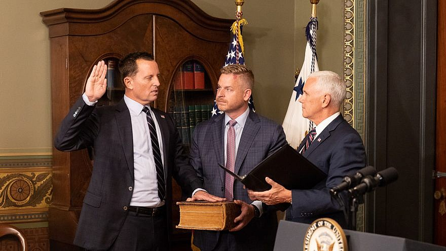 Amb. Richard Grenell being sworn in as ambassador to Germany by Vice President Mike Pence. Credit: U.S. Embassy in Berlin.