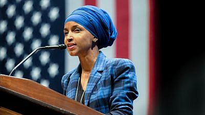 Congresswoman-elect Ilhan Omar (D-Minn.) in 2016. Omar has endorsed the BDS movement targeting Israel. Credit: Lorie Shaull via Flickr.