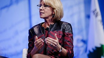 U.S. Secretary of Education Betsy DeVos at CPAC on Feb 23, 2017. Credit: Michael Vadon/Flickr.
