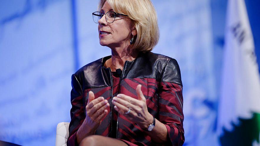U.S. Secretary of Education Betsy DeVos at CPAC on Feb 23, 2017. Credit: Michael Vadon/Flickr.