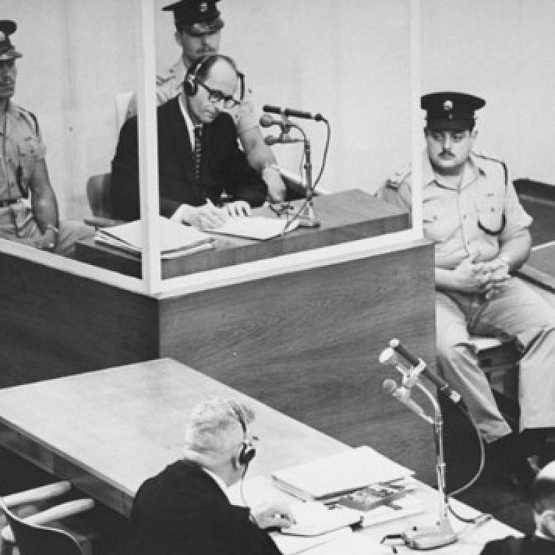 Nazi Adolf Eichmann during his trial in Israel. Eichmann is the only person executed under Israel's civilian death penalty law. Credit: Wikimedia Commons.