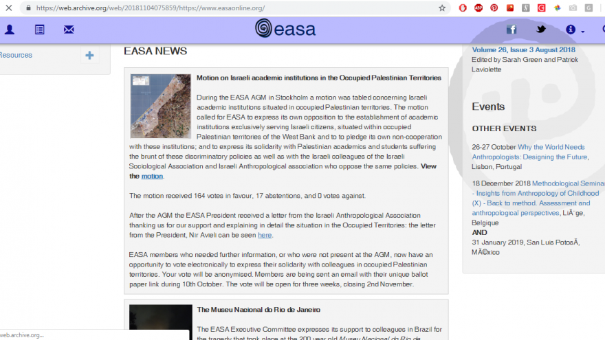 Screenshot of the EASA's website last week, indicating that the vote occurred from October 10 - November 2.