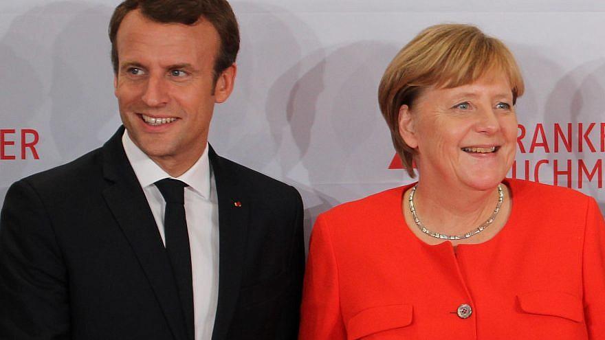 French President Emmanuel Macron and German Chancellor Angela Merkel. Credit: Wikimedia Commons.