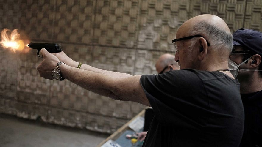 Israelis practice shooting handguns at the Olympic Shooting Range in Herzliya. Photo by Tomer Neuberg/Flash90.