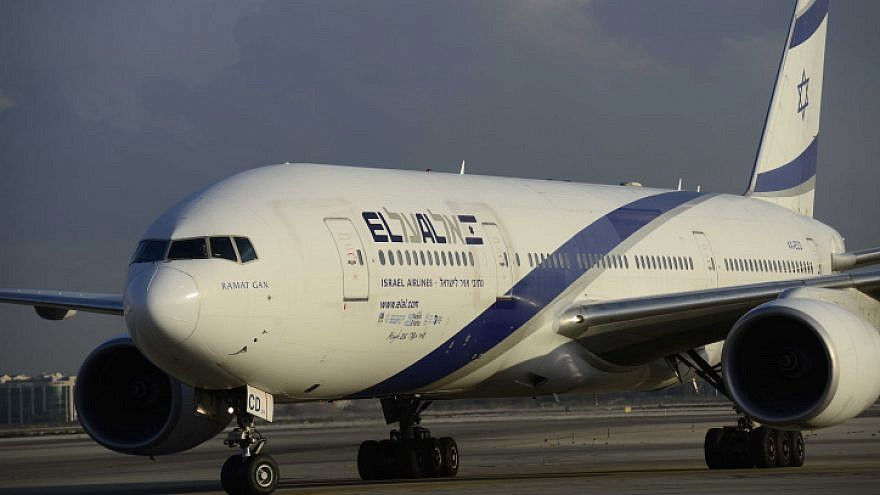 An El Al passenger jet at Ben-Gurion International Airport on Aug. 17, 2016. Photo by Tomer Neuberg/Flash90.