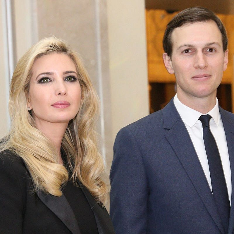 Ivanka Trump, daughter of US president Donald Trump and her husband, Jared Kushner, senior adviser to President Trump, seen in Jerusalem, ahead of the official opening of the U.S. embassy. May 13, 2018. Credit: Yossi Zamir/FLASH90