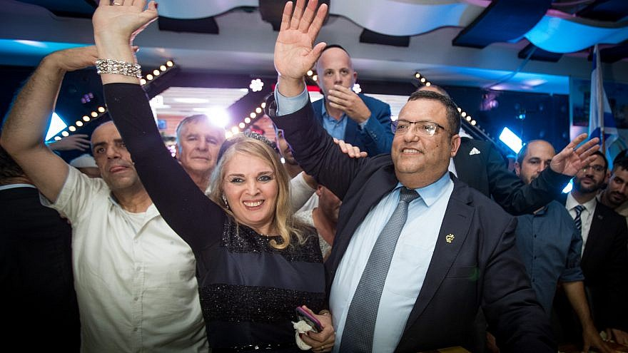 Newly elected Jerusalem mayor Moshe Leon celebrates his victory with supporters at his campaign headquarters after winning the Jerusalem municipal elections on Nov. 14, 2018. Photo by Yonatan Sindel/Flash90.