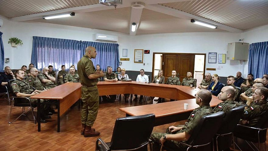 """Israel and Poland began an exchange program in 2015 called """"Friends in Uniform,"""" where Polish officers would visit their counterparts in Israel and learn the country's history."""