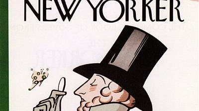 "The cover of the first issue of ""The New Yorker,"" drawn by Rea Irvin. Fair-use license/Wikimedia Commons."