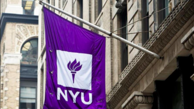 New York University flag. Credit: Screenshot: