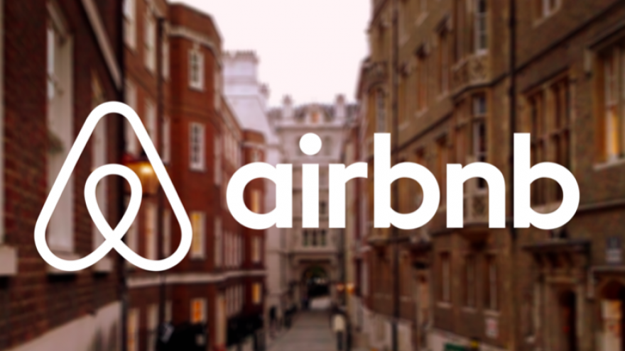Airbnb logo. Credit: Screenshot.
