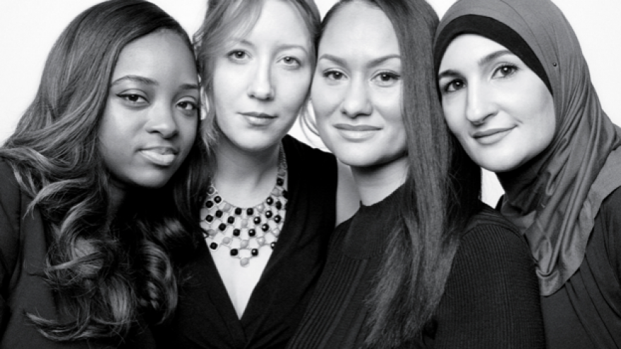Women's March leaders Tamika Mallory, Bob Bland, Carmen Perez and Linda Sarsour. Credit: Screenshot.