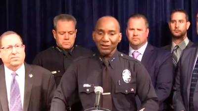 Los Angeles Police announce hate-crime charges against Mohamed Mohamed Abdi, an American citizen from Somalia, with assault with a deadly weapon to commit a hate crime. Police said that on Nov. 23, 2018, he attempted to kill with his car two Jewish men leaving their synagogue as the suspect shouted anti-Semitic remarks. Credit: Screenshot.