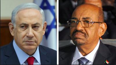 Israeli Prime Minister Benjamin Netanyahu and Sudanese President Omar al-Bashir. Credit: Screenshot.
