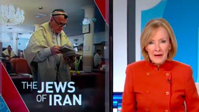 PBS NewsHour anchor Judy Woodruff introducing a segment on Nov. 27, 2018, about Jews inside Iran, which garnered criticism of whitewashing the Islamic Republic's hatred of Israel. Credit: Screenshot.