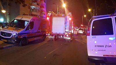 United Hatzalah EMS vehicles in Ashkelon on Nov. 12, 2018. Credit: United Hatzalah.