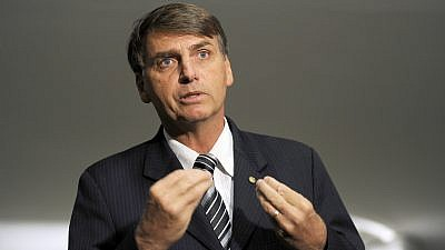 Brazilian President Jair Bolsonaro, a right-wing anti-establishment figure who has promised to upend the status quo in the country, including improving ties with Israel. Credit: Wikimedia Commons.
