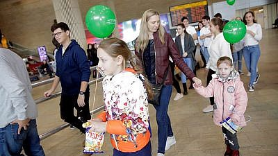 Approximately 250 new immigrants (olim) from Ukraine arrived in Israel on Dec. 24 and Dec. 25, 2018, on flights chartered by the International Fellowship of Christians and Jews, the final ones for new immigrants in 2018. Credit: Olivia Petosi.