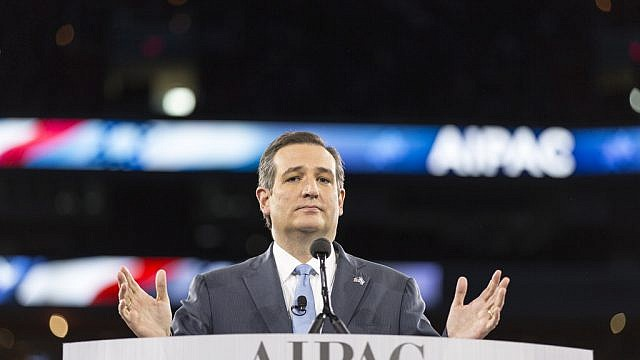 Sen. Ted Cruz (R-Texas) speaking at 2016 AIPAC Policy Conference. Credit: Lorie Shaull/Flickr.