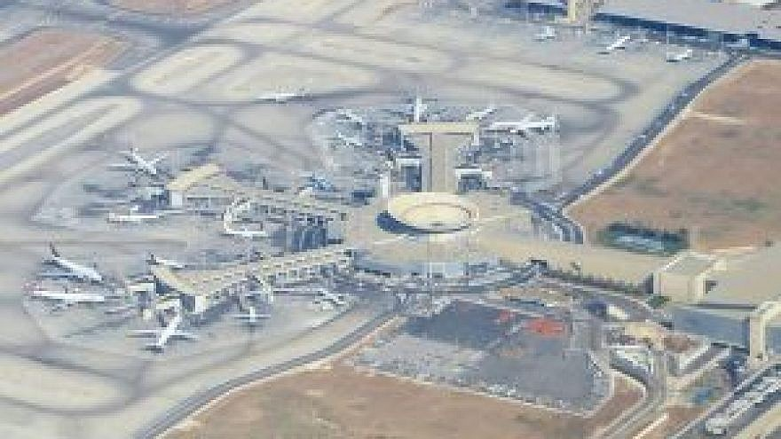 Aerial view of Ben-Gurion Airport. Credit: Wikipedia.