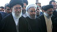 Supreme Leader of Iran Ayatollah Ali Khamenei (left) with President Hassan Rouhani. Credit: Wikimedia Commons.