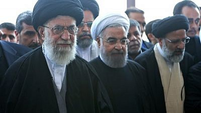 Supreme Leader of Iran Ayatollah Ali Khamenei (left) with President Hassan Rouhani. Credit: Wikimedia Commons.