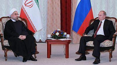 Iranian President Hassan Rouhani (left) and Russian President Vladimir Putin. Credit: Wikimedia Commons.