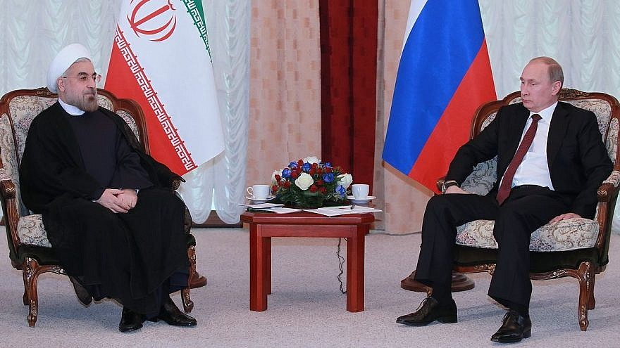 Iranian President Hassan Rouhani and Russian President Vladimir Putin. Credit: Wikimedia Commons.