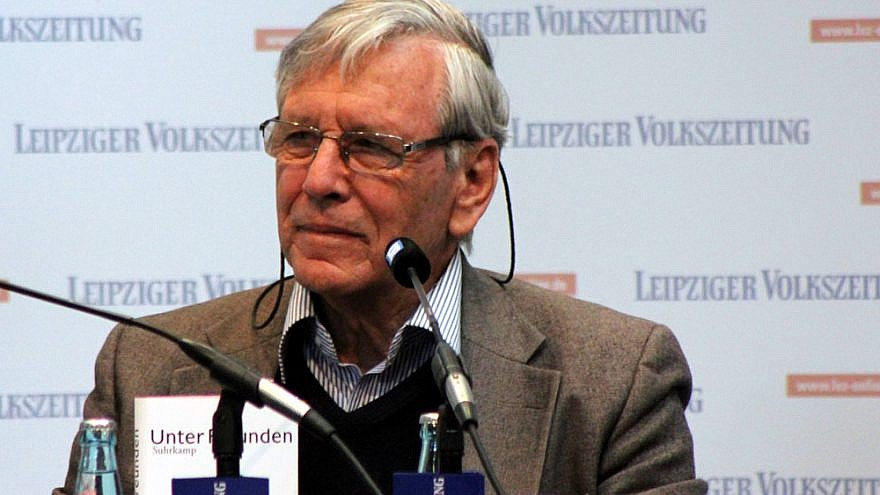 Israeli author Amos Oz at the Leipzig Book Fair in 2013. Credit: Wikimedia Commons.