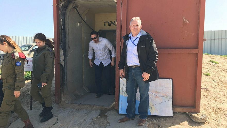 Incoming House Rep. Denver Riggleman of Virginia participates in a five-day visit to Israel, along with other incoming congressional members to learn about the region. Photo courtesy of Denver Riggleman.