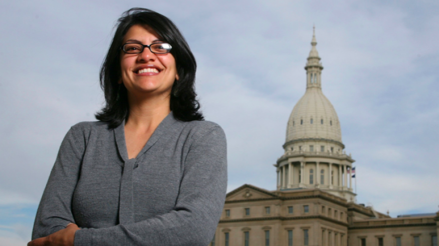 U.S. Congresswoman Rashida Tlaib (D-Mich.). Credit: Screenshot.