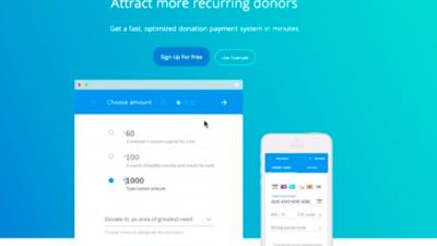 Donorbox website. Credit: Screenshot.