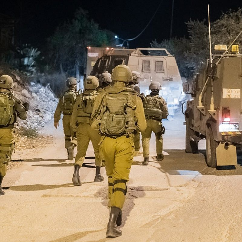 Israel Defense Forces conducting security operations across the West Bank. December 2018. Credit: IDF Spokesperson's Unit.