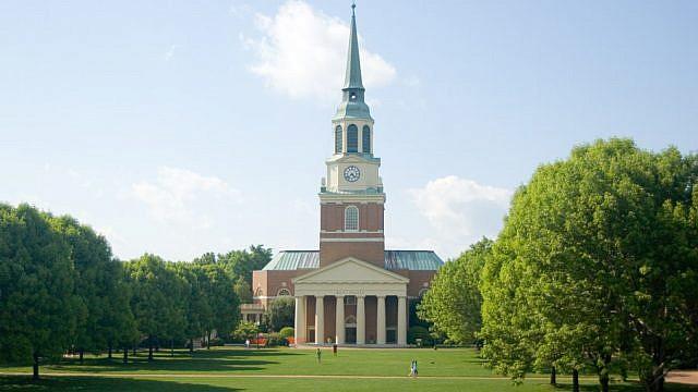 Wait Chapel at Wake Forest University. Credit: Jijithecat/Wikimedia Commons.