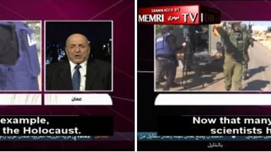 "The MEMRI TV clip shows Sufyan Tal saying, on Nov. 11, 2018 on Lebanon's Al-Quds TV, that ""many of the world's scientists have proven that the Holocaust is the greatest lie in modern history."""