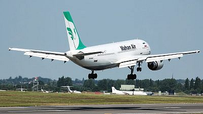 Mahan Air Airbus A300B4-600 lands at Birmingham International Airport, England. Credit: Adrian Pingstone/Wikimedia Commons.