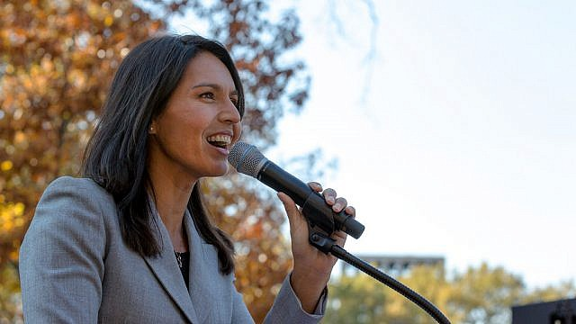 Congresswoman Tulsi Gabbard at the People's Rally in Washington, D.C. Credit: Lorie Shaull/Flickr.
