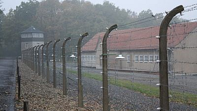 Part of the barbed wire surrounding the former Buchenwald camp. Credit: Lars K Jensen/Flickr.