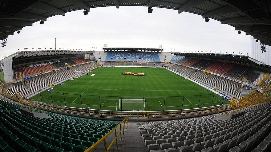 Jan Breydel stadium in Bruges, Belgium. Credit: Wikimedia Commons.