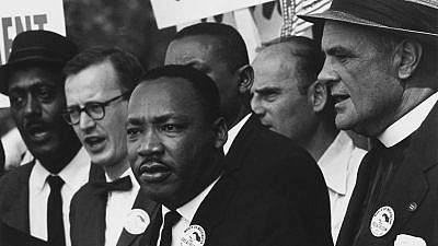 Dr. Martin Luther King Jr. at the civil-rights march in Washington, D.C., on Aug. 28, 1963. Credit: National Archives and Records Administration, College Park. Md.