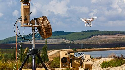"""Rafael's Drone Dome system, which the company describes as an effective way to conduct airspace defense """"against hostile drones used by terrorists and criminals to perform aerial attacks, collect intelligence and carry out intimidating activities."""" Credit: Rafael Industries."""