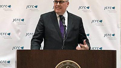 Jeremy Burton, executive director of the Boston JCRC. Credit: Boston JCRC via Twitter.